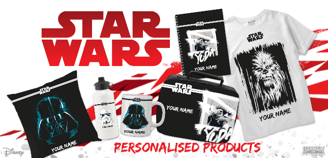 Create your own Star Wars personalised products
