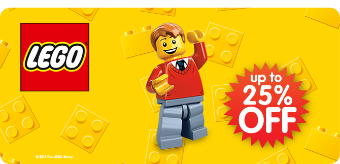 LEGO Up to 25% Off