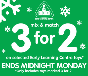 3 For 2 On Selected ELC Toys