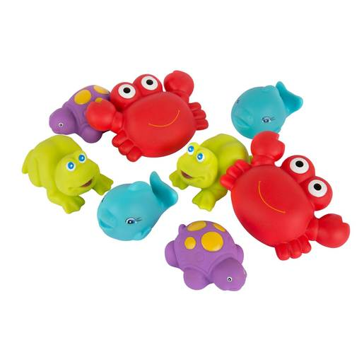 Playgro Floating Sea Friends 8 Pack - Blue