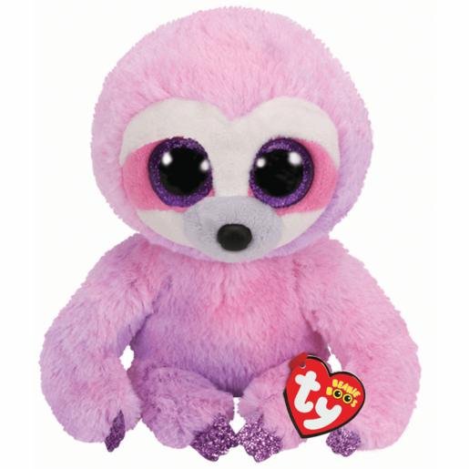 Ty Beanie Boo Buddy 24cm Soft Toy - Dreamy Purple Sloth