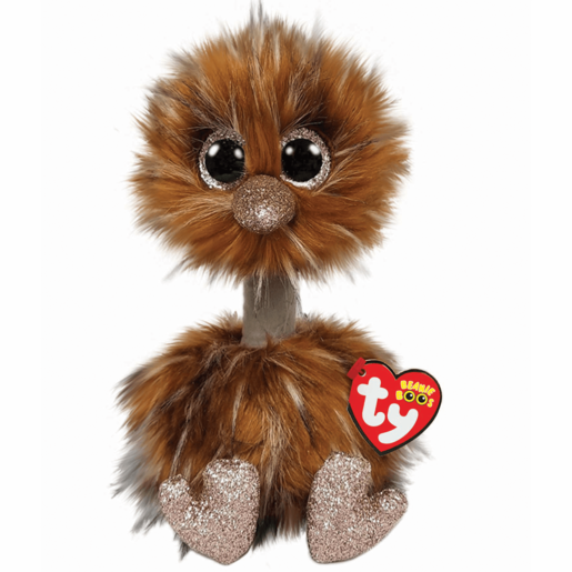 Ty Beanie Boo Buddy 24cm Soft Toy - Orson Brown Ostrich