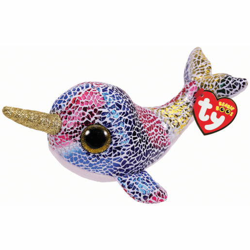 Ty Beanie Boo Buddy 24cm Soft Toy - Nova The Narwhal