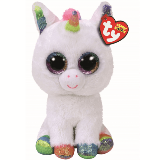 Ty Beanie Boo Buddy 24cm Soft Toy - Pixy The Unicorn