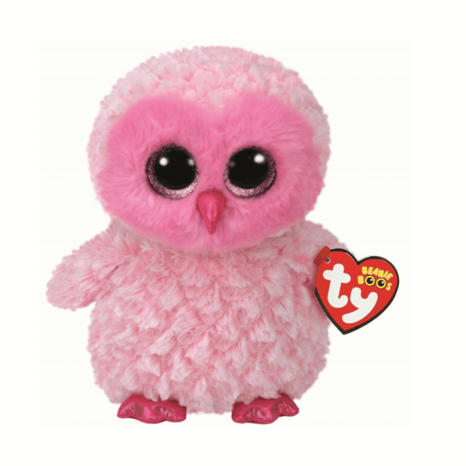 Ty Beanie Boo Buddy 24cm Soft Toy -Twiggy the Pink Owl 53e4a2544c1d