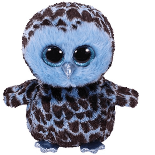 Ty Beanie Boo Buddy 24cm Soft Toy - Yago the Blue Owl