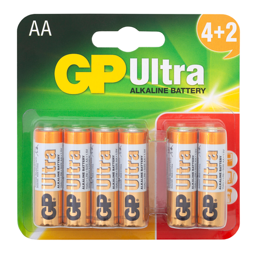 GP Ultra 4+2 x AA Batteries