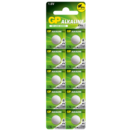 GP Ultra 10 x LR44 Alkaline Cell Batteries