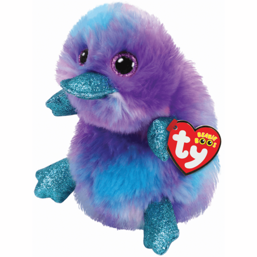 Ty Beanie Boo 15cm Soft Toy - Zappy Purple Platypus