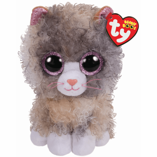 Ty Beanie Boo 15cm Soft Toy - Scrappy Curly Hair Cat