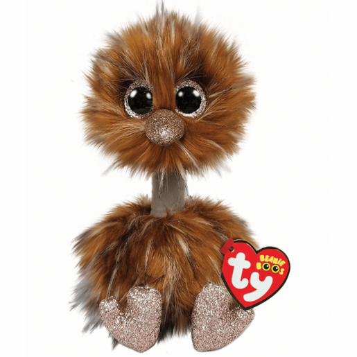 Ty Beanie Boo 15cm Soft Toy - Orson Brown Ostrich