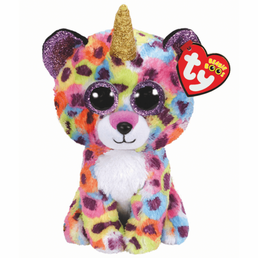 Ty Beanie Boo 15cm Soft Toy - Giselle Leopard with Horn
