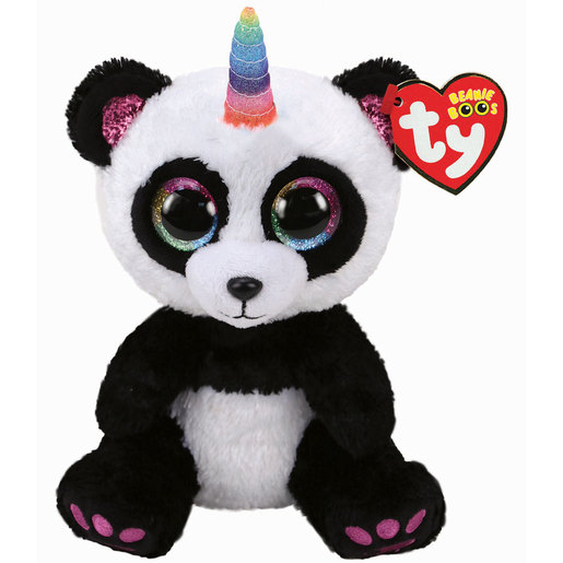 TY Beanie Boo - Paris the Panda (With Horn)