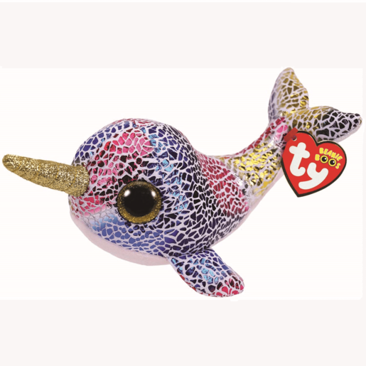Ty Beanie Boo 15cm Soft Toy - Nova The Narwhal