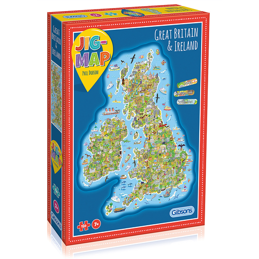 Jig-Map Britain and Ireland Puzzle