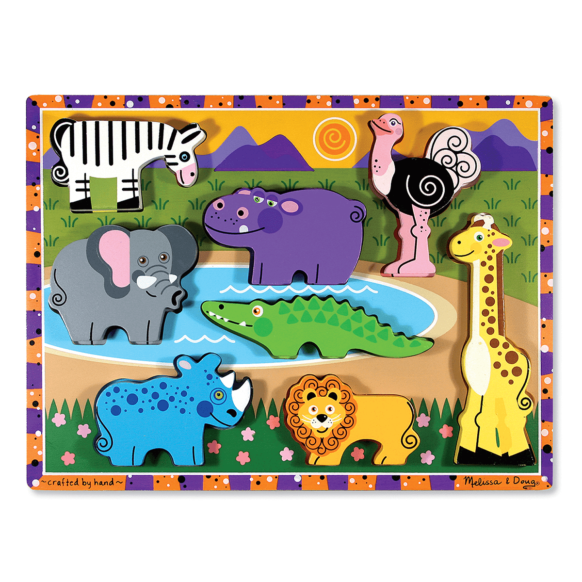 Melissa Doug Chunky Jungle Puzzle