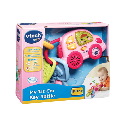 VTech Baby My 1st Car Key Rattle - Pink