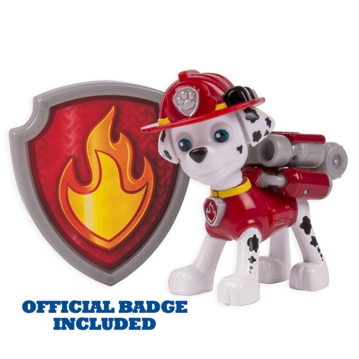 Paw Patrol - Action Pack Marshall Figure and Badge