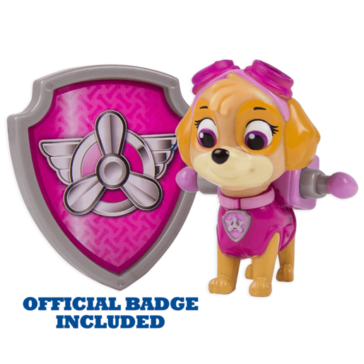 Paw Patrol - Action Pack Skye Figure and Badge