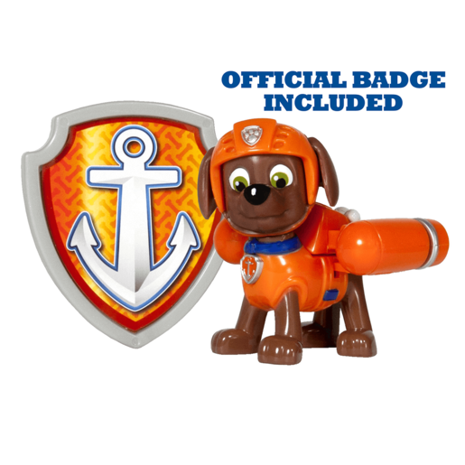 Paw Patrol - Action Pack Zuma Figure and Badge
