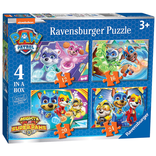 Ravensburger Paw Patrol Mighty Pups Super Paws 4 in a Box Puzzle