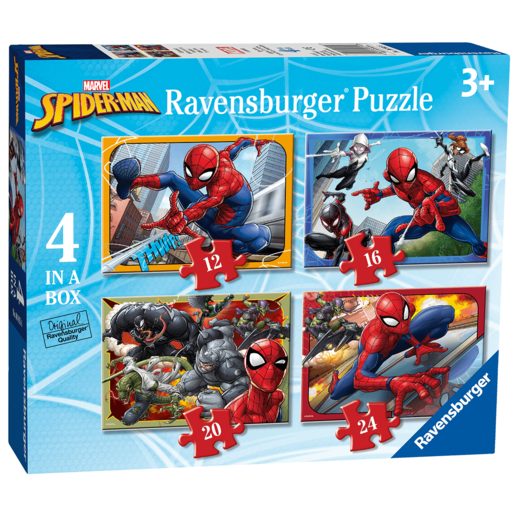 Ravensburger 4 In A Box Jigsaw Puzzle Spider-Man (Styles Vary)