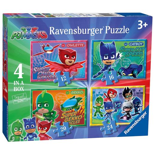 Ravensburger 6917 PJ Masks 4 in Box Jigsaw Puzzles - 12 16 20 24 Pieces