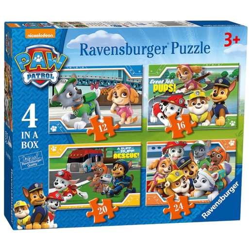 Ravensburger 4-in-1 Box Jigsaw Puzzle - Paw Patrol