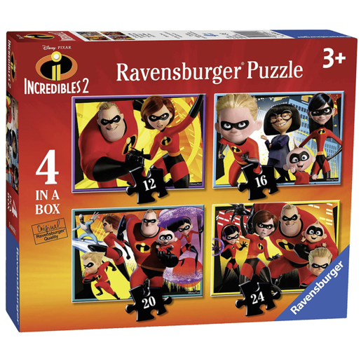 Ravensburger 4-in-1 Box Jigsaw Puzzles - Disney Pixar The Incredibles