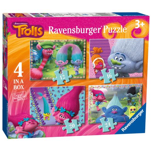 Ravensburger 4 in a Box Puzzles - DreamWorks Trolls