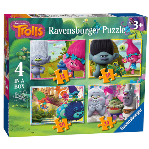 Ravensburger 4-in-1 Box Jigsaw Puzzles - Dreamworks Trolls