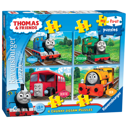 Ravensburger 4 in a Box Chunky Jigsaw Puzzles - Thomas the Tank Engine