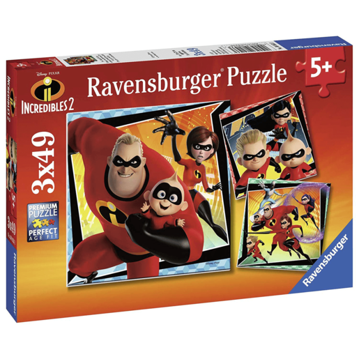 Ravensburger 3*49pcs Jigsaw Puzzles - Disney Pixar The Incredibles 2
