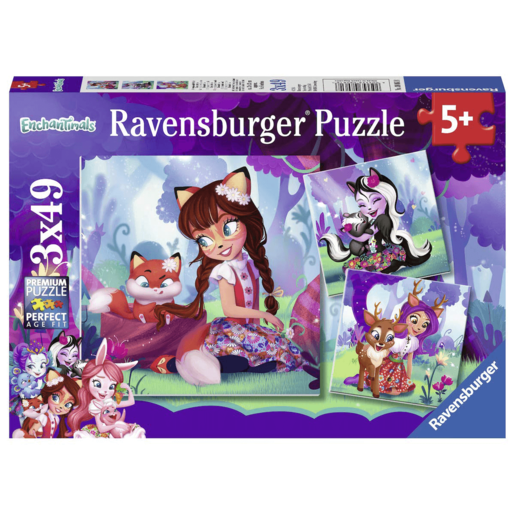 Ravensburger Enchantimals - 3x 49pc Jigsaw Puzzles