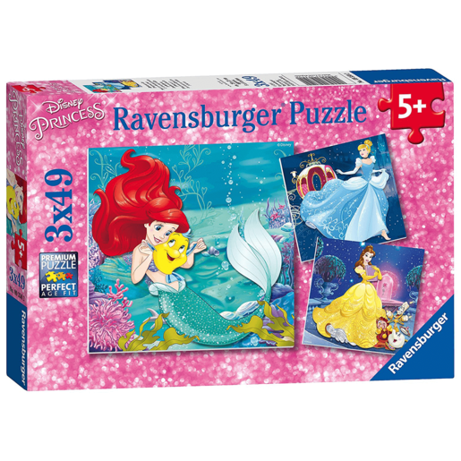 Ravensburger Disney Princess 3 X 49 Piece Puzzles