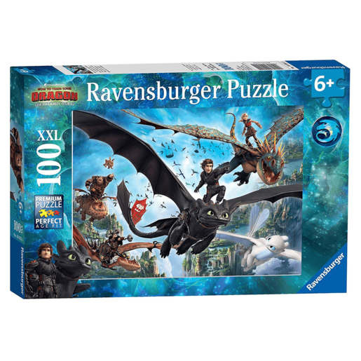 Ravensburger Dragons: Hidden World XXL - 100 Pieces Puzzle