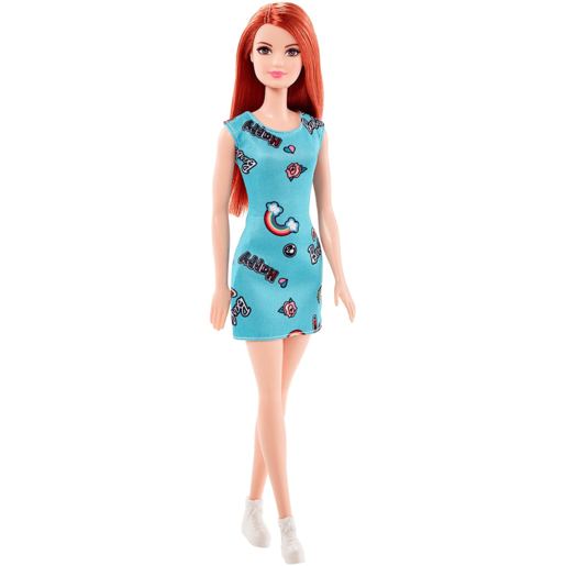 Barbie Basic Doll - Ginger with Blue Dress