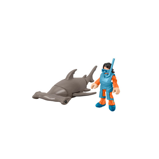 Fisher-Price Imaginext DC Super Friends - Hammerhead Shark and Snorkeler