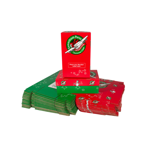 Operation Christmas Child Charity Gift Boxes - 50 Pack