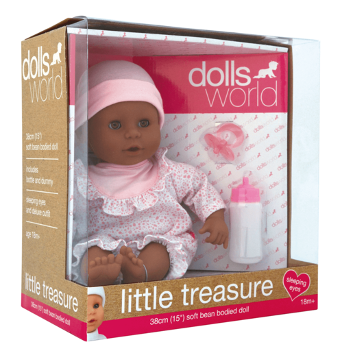 Dolls World Little Treasure 38cm Black Doll