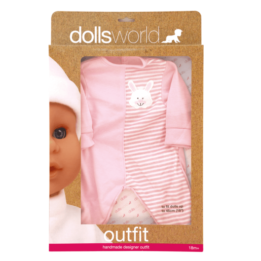 Dolls World Outfit - Bunny Baby Grow