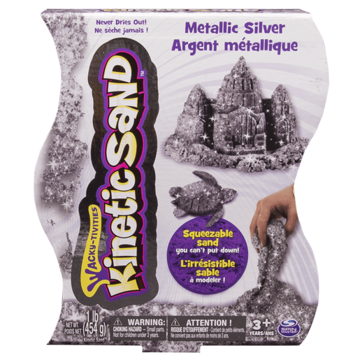Kinetic Sand Metallic Silver Colour Sand 454g