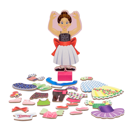 Melissa & Doug Magnetic Wood Nina Ballerina Doll