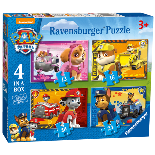 Ravensburger Paw Patrol 4 In a Box Puzzle