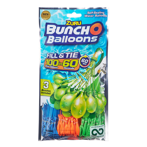 Official Zuru Bunch O Balloons - 100 Balloons By ZURU