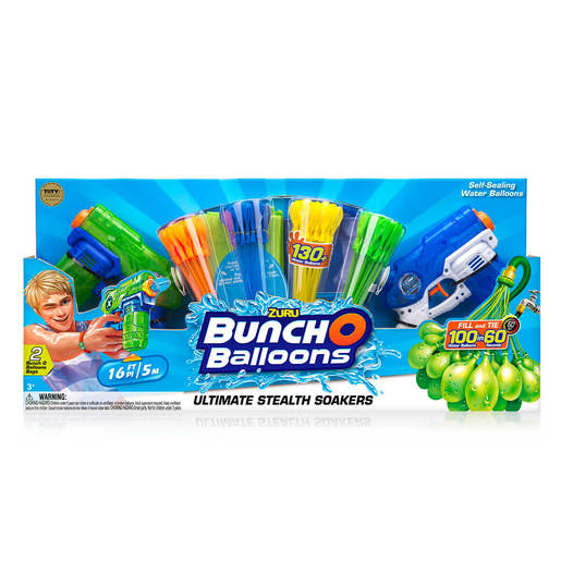 Official Zuru Bunch O Balloons Pack and Blasters - 130 Balloons By ZURU