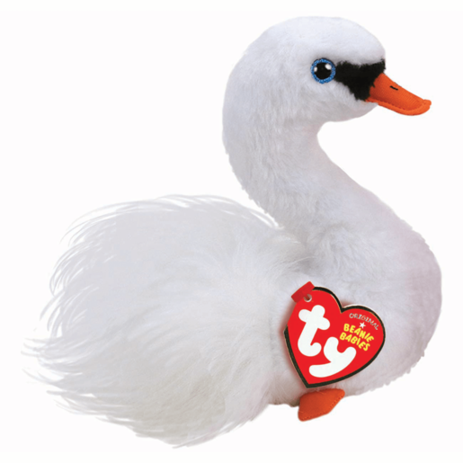 Ty Beanie Babies 15cm Soft Toy - Gracie The Swan