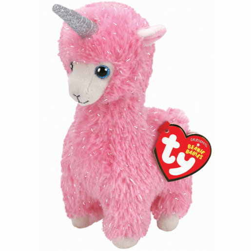 Ty Beanie Babies 15cm Soft Toy - Lana The Pink Llama