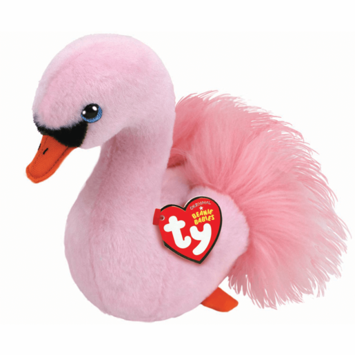 Ty Beanie Babies 15cm Soft Toy - Odette The Pink Swan