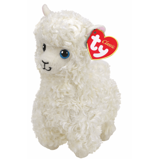Ty Beanie Babies 25cm Classic Soft Toy - Lily The Cream Llama